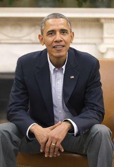 President Barack Obama. Comfortable in his own skin.