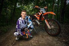 Nick | A Midland, MI Senior Photo Session on a dirt bike! | Collier Studios