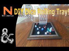 DIY: Felt-Lined Dice Rolling Tray! - http://www.nerdimmersion.com/diy-felt-lined-dice-rolling-tray/ #dnd #dicetray