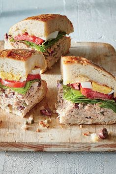 No-Cook Guide - Cooking Light: Sandwiches (lunch) Pan Bagnat, Healthy Soup Recipes, Lunch Recipes, Cooking Recipes, Steak Recipes, Diabetic Recipes, Cake Recipes, Healthy Food, Light Sandwiches