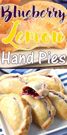 Lemon Hand Pies - Shugary Sweets All it takes is 30 minutes to prepare these Blueberry Lemon Hand Pies with their flaky crust and citrus glaze!All it takes is 30 minutes to prepare these Blueberry Lemon Hand Pies with their flaky crust and citrus glaze! Easy Desserts, Delicious Desserts, Yummy Food, Potluck Desserts, Greek Desserts, Lemon Desserts, Summer Desserts, Blueberry Recipes, Blueberry Drinks
