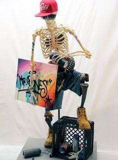 Mr. Bones by Tats Cru and streetstyle  -   KIEHL'S store, NY