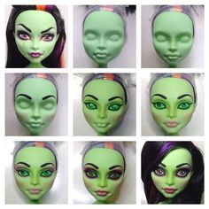 Summary Monster High face up | Flickr - Photo Sharing!