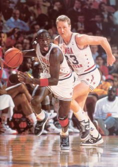 Michael Jordan and Larry Bird. Just witness the greatness Basketball Pictures, Love And Basketball, Sports Basketball, Basketball Players, Pickup Basketball, Hockey, Jordan 23, Michael Jordan Basketball, Jeffrey Jordan