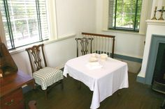 First floor kitchen/dining area in South Pavilion at Monticello