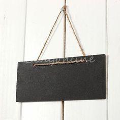 3pcs Mini Vintage Hanging Blackboard Chalkboard String Wedding Party Decor Favor