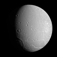 Saturn's moon Dione always has one side that faces Saturn, and always has one side that faces away. This is similar to Earth's Moon. Dione should therefore have undergone a significant amount of impacts on its leading half. But the current leading half of Dione is less cratered than the trailing half! A possible explanation is that some impacts were so large they spun Dione, sometimes changing the part that suffered the highest impact rate before the moon's spin again became locked.