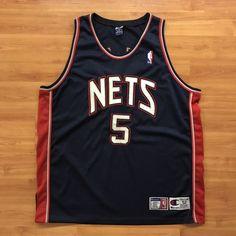 d790c041a83 Details about Champion Authentic New Jersey Nets (Jason Kidd ) Vintage NBA  Jersey SIZE 52