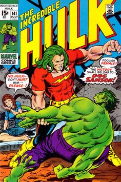 Incredible Hulk #141. Doc Samson makes his debut. Art by Herb Trimpe. #Hulk #DocSamson #HerbTrimpe