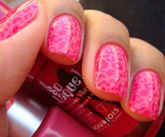 Pink on pink leopard.