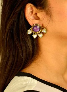 Indian Fashion Designers - Artsie Ville - Contemporary Indian Designer - Lenna II Earrings - ARV-SS17-AVE045