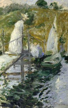 urgetocreate:  John Henry Twachtman, Summer Afternoon, 1900-02