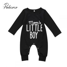 Newborn Baby Boy Clothing Shark Romper Long Sleeve Warm Jumpsuit Cotton Playsuit Outfits Clothes 0-3T Black,6M