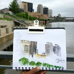 St.Paul from the Mississippi RiverWalk -by Archana Shankari