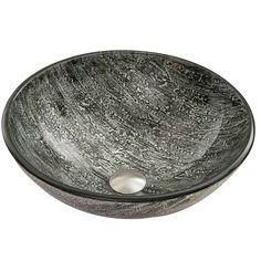 The VIGO Titanium vessel sink sparkles like brilliant layers of titanium in your new bathroom.  A mixture of black and silver smudged together keep your bathroom interesting for years to come.