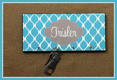 Personalized Gift Ideas, Key Holder Key Rack Key Hanger Monogrammed Personalized Gift, Wedding Gift, Housewarming Gift, Organizer Wall Decor