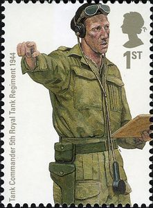 British Stamp 2007 - Military Uniforms Tank Commander 5th Royal Tank Regiment 1944