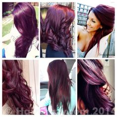 Burgundy plum hair