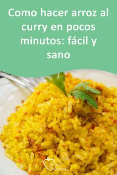 Como hacer arroz al curry en pocos minutos: fácil y sano Discover in this article how to make curry rice both traditionally and in the Thermomix and enjoy this delicious oriental flavor Healthy Rice Recipes, Detox Diet Recipes, Vegetarian Recipes, How To Make Curry, Salmon And Rice, Avocado Pasta, Curry Rice, Asian Kitchen, Cooking Time