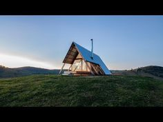 Anthony Hunt Design and Luke Stanley Architects have designed a tent-shaped rentalhutfor the summit of a hill in rural New South Wales, Australia.