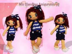 Como hacer vestido para muñeca a crochet. Marinera Lilia - YouTube