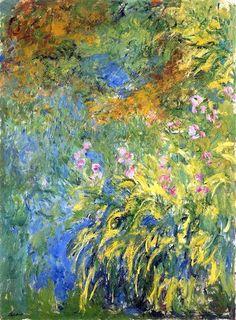 Irises 3, 1917 by Claude Monet. Impressionism. flower painting