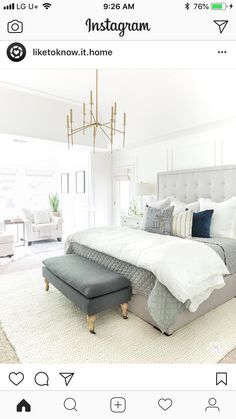 Home decorating ideas bedroom white master bedroom design ideas with brass light and gray tufted bed – awesome home design ideas and decor Bedroom Green, Bedroom Colors, Bedroom Fan, Bedroom Curtains, Dove Grey Bedroom, Cheetah Bedroom, Grey And Gold Bedroom, Blush Pink Bedroom, White Bedroom Set