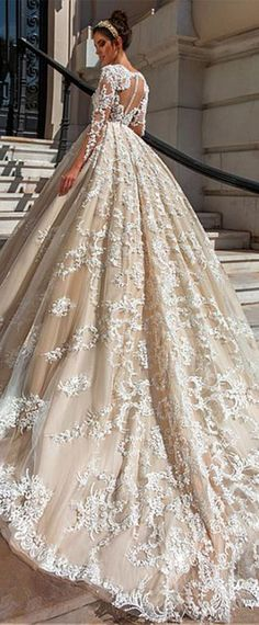 15 Sweet Ivory Wedding Dresses: Must Have For Brides - - Wedding day is the most happiest day in a life of every bride. To look great and charming you can choose ideal ivory wedding dresses for your celebration. Wedding Dresses 2018, Princess Wedding Dresses, Designer Wedding Dresses, Bridal Dresses, Beaded Dresses, Princess Ball Gowns, Ivory Wedding, Gown Wedding, Tulle Wedding