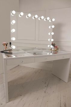 white vanity table with lights. Crisp White Finish Dressing Table With Premium Storage For Hair And Beauty  Three Spacious Drawers Encrusted Diamant Handles Comes Vanity Mirror New Makeup My Ikea Malm