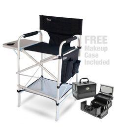 Pro Makeup Artist Chair / Makeup Case Combo - Includes the Earth Executive VIP Tall Directors Makeup Chair, Zen Makeup Case w/ FREE Chair Carry Bag ($30 ...