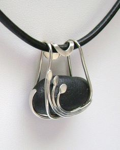 Sea Glass Jewelry   bail. I think this would look good also with a beach stone or shell piece