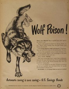 Original vintage magazine ad for U. Tagline or sample ad copy: There's wolf poison in every U. Publication Year: 1948 Approximate Ad Size (in inches): 10 x Condition: Good to VG with some page toning. Wolf Tattoo Traditional, Traditional Tattoo Inspiration, Traditional Tattoo Flash, Vintage Illustration Art, Tattoo Illustration, Old Tattoos, Body Art Tattoos, Cherry Blossom Drawing, Americana Tattoo