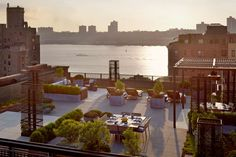 West Avenue Roof Terrace in NYC, NY by Sawyer | Berson