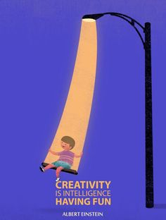 Creativity is Intelligence Having Fun- Illustration, Albert Einstein quote art print. (art prints by Tang Yau Hoong) Citations D'albert Einstein, Citation Einstein, Albert Einstein Quotes, Quote Art, Quote Posters, Art Quotes, Inspirational Quotes, Motivational Posters, Wise Quotes