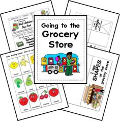 Free Grocery Store Lapbook Printables. Yes, something to keep them occupied while shopping!!