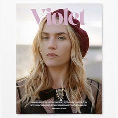 Magazine Violet - numéro 4. Avec Kate Winslet en couverture. Magazine de mode lifestyle par la créatrice de Lula.