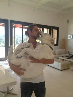 Chris Cornell and his puppy
