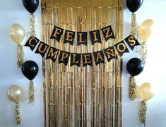sencillo Birthday Decor For Him, Simple Birthday Decorations, Diy Birthday Banner, 60th Birthday Party, Unicorn Birthday Parties, Birthday Balloons, Happy Birthday Young Man, Hand Crafts For Kids, Friend Birthday Quotes