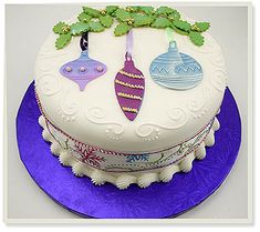 christmas bauble cake - Google Search