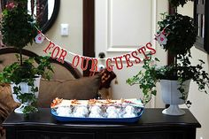 chevron baby shower decorations | Cake bunting & Hanging banner: The Art of Handmades