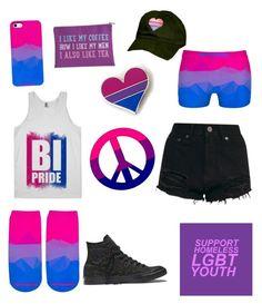 """Bisexual Pride 2017"" by bigtexfunkadelic ❤ liked on Polyvore featuring Converse, pride, lgbt, bisexual, bi and BigTexFunkadelic"