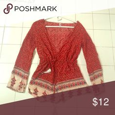 Romper Red romper// long sleeve// really cute w a white or black tank top underneath // has a adjustable tie around the waist // fits small song yang Other