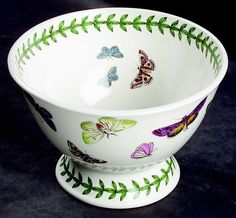 Portmeirion footed dish | Portmeirion Botanic Garden Butterflies Footed Bowl | eBay