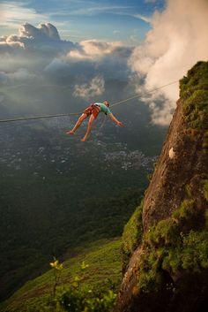 Extreme Sports: Slackline over Rio   Planet Vide