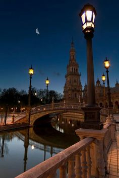 Blue hour in Plaza de España ( Spain Square ) , Sevilla, Spain, from Iryna Great Places, Places To See, Beautiful World, Beautiful Places, Sevilla Spain, Andalusia Spain, Madrid, Voyage Europe, Blue Hour