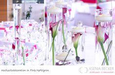 beere pink lila hochzeitsdekoration tischdekoration mit callas