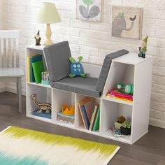 Kidkraft Bookcase with Reading Nook in White