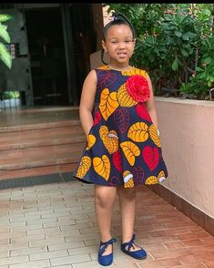 Beautiful and Trendy Ankara Styles for kids African Dresses For Kids, African Wear Dresses, Latest African Fashion Dresses, Dresses Kids Girl, African Attire, Kids Dress Wear, Kids Gown, Baby Girl Dress Patterns, Baby Dress Design