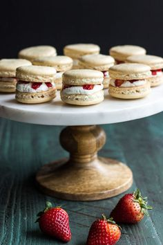 Bring a little fancy to your summer strawberries with these adorable and easy strawberry shortcake macarons. Get the recipe form The Beach House Kitchen.    - CountryLiving.com