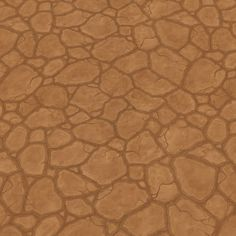 Dry Cracked Ground -- Handpainted Textures